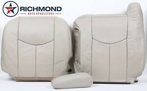 2003 2006 Chevy Suburban Tahoe driver Side Complete Leather Seat Covers Tan