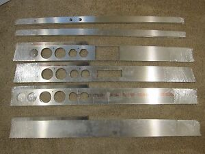 1967 67 1966 66 Chevelle Malibu El Camino Dash Panel Pro Touring Gauges Aluminum