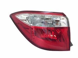 Driver Side Outer Tail Light Assembly Lh For 2014 2016 Corolla W Bulbs Sockets