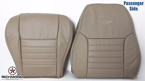 2004 Ford Mustang Gt V8 Passenger Complete Perforated Leather Seat Covers Tan