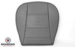 2003 2004 Ford Mustang V6 Coupe Driver Side Bottom Leather Seat Cover Gray