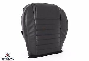 2005 2009 Ford Mustang V8 driver Side Bottom Perforated Leather Seat Cover Black