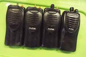Set Of 4 Kenwood Protalk Two way Radios a55