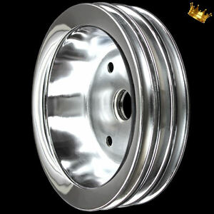 Chrome Small Block 3 Groove Crankshaft Pulley Fits Chevy 327 350 383 400 W Swp