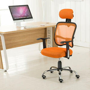 Ergonomic Mesh Back Tilt Computer Office Chair Desk Task Swivel With Headrest