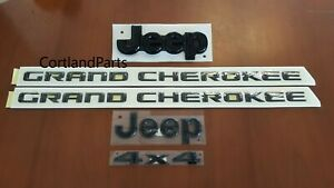 2012 2017 Jeep Grand Cherokee Mopar Black Decals