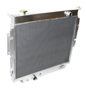 3 Row Aluminum Performance Radiator For 83 94 Ford F 250 F 350 Diesel V8 Mt Only
