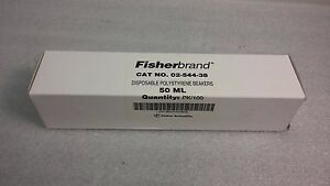 Fisherbrand 02 544 38 Polystyrene Beakers 50ml 100 Per Box