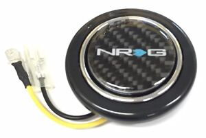 Nrg Steering Wheel Horn Button With Nrg Carbon Fiber Logo