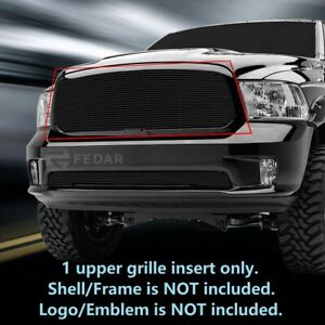 Black Upper Billet Grille Grill For Dodge Ram 1500 2013 2017
