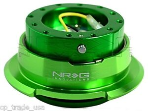 Nrg Steering Wheel Quick Release Gen 2 8 Green Diamond Cut Srk 280gn
