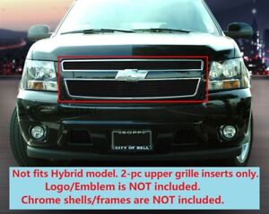 Black Billet Grille Insert For Chevy Tahoe Suburban Avalanche 2007 2014