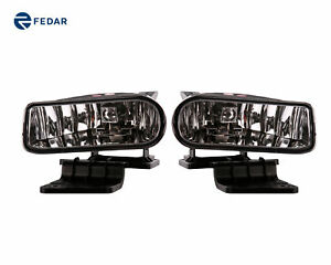 Clear Lens Driving Bumper Fog Lights Fits 99 02 Chevy Silverado 00 06 Suburban