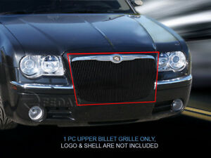 Black Upper Billet Grille Insert For 2005 2010 Chrysler 300c