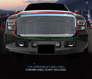 Billet Grille Upper 1pc For 05 06 07 Ford F 250 F350 F450 F550 Excursion
