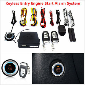 10pc Auto Car Alarm System Keyless Entry Engine Start Push Button Remote Starter