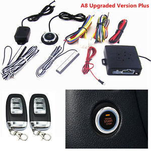 10pcs Car Alarm System Keyless Entry Engine Start Push Button Remote Starter Kit