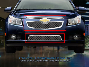 Dual Weave Mesh Grille Combo Insert For Chevy Cruze Lt Rs Ltz Rs 2011 2014