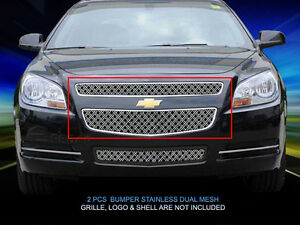 Dual Weave Mesh Grille Insert For Chevy Malibu 2008 2009 2010 2011 2012
