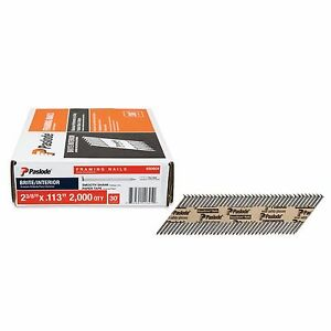 Paslode Framing Nails 2 3 8 In X 0 113 gauge 30 Reinforced Round Head 2000 pc