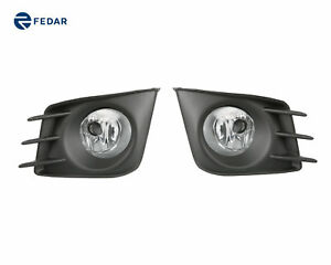 Clear Lens Fog Lights Kit Driving Bumper Lamps For Scion Tc 2011 2012 2013