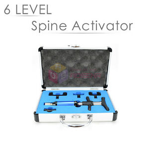 New Chiropractic Adjustment Tool Portable 4 Head Spine Activator Back Massage