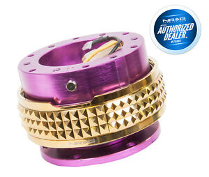 Nrg Steering Wheel Quick Release Gen 2 1 Purple Gold Pyramid Srk 210pp cg