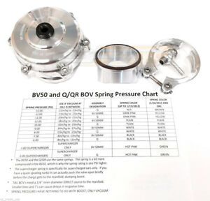 Tial Q Blow Off Valve Bov 50mm 10 Psi With Aluminum Flange New Version 2 Silver