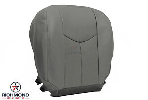 03 06 Cadillac Escalade Heated Seats driver Side Bottom Leather Seat Cover Gray