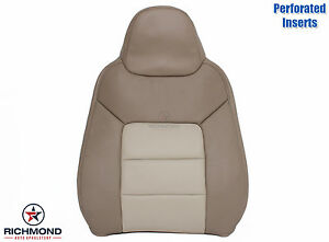 03 06 Expedition Eddie Bauer Driver Side Lean Back Perforated Leather Seat Cover