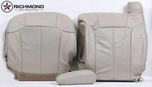 2002 Cadillac Escalade Ext Driver Complete Perforated Leather Seat Covers Tan
