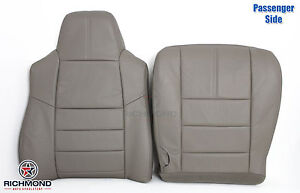 2008 2010 Ford F250 F350 Lariat complete Passenger Side Leather Seat Covers Gray