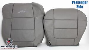 01 02 Ford F150 Lariat Crew passenger Captain Bucket Leather Seat Covers Gray