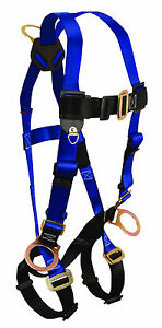 Falltech Safety Harness Full body 7017 3 D rings Legs Chest Buckle Unifit 1 Ea