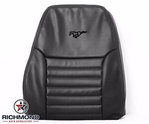 2002 Ford Mustang Gt Driver Side Lean Back Perforated Leather Seat Cover Black