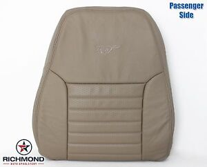 99 04 Ford Mustang Gt V8 Convertible passenger Lean Back Leather Seat Cover Tan