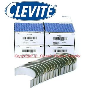 New Set Of 8 Clevite 010 Undersize Rod Bearings Ford Sb 302 289 260 255 221