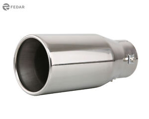 3 Inch Inlet 4 Outlet 9 Inch Long Dual Wall Rolled Flat End Exhaust Tip Pipes