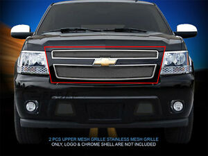 Mesh Grille Front Upper Insert For Chevy Tahoe Avalanche Suburban 2007 2014