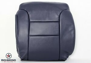 1995 1999 Chevy Tahoe Suburban Driver Side Lean Back Leather Seat Cover Blue