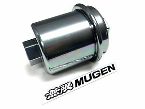 Silver Racing High Flow Washable Fuel Filter For Acura Integra B18 Jdm Emblem D
