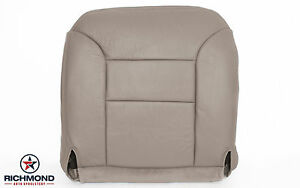 1997 Chevy Suburban C k driver Side Bottom Replacement Leather Seat Cover Tan