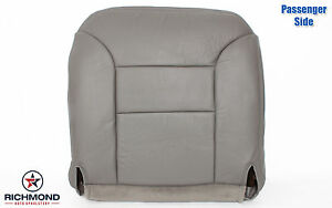95 99 Chevy Suburban 2500 Lt Ls passenger Side Bottom Leather Seat Cover Gray