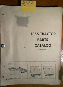 White Oliver Cockshutt 1355 Tractor Parts Catalog Manual 2 70 1 73 4 73