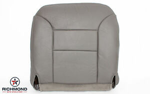 95 99 Chevy Tahoe Lt Ls driver Side Bottom Replacement Leather Seat Cover Gray