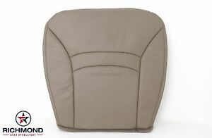 00 02 Ford E150 Econoline Chateau Van Driver Side Bottom Leather Seat Cover Tan