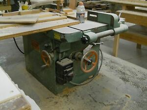 T D Sonner Shaper Heavy Duty 6 Hp 1 1 4 Spindle