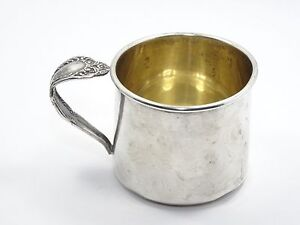 Rogers Sterling Silver Baby Child Christening Cup Bridal Veil Spoon Handle 57g