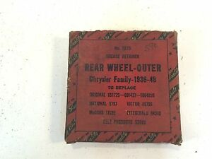 Vintage 1936 48 Chrysler Rear Wheel Outer Grease Retainer 7575 651725 891437
