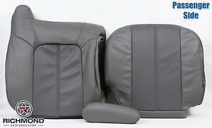 02 Gmc Yukon Xl 1500 Denali Awd Passenger Side Complete Leather Seat Covers Gray